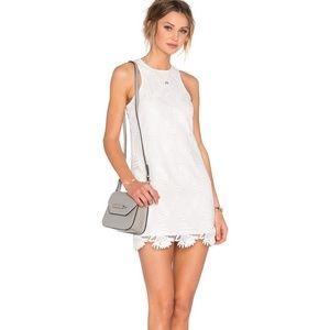 Lovers + Friends White Caspian Lace Shift Dress